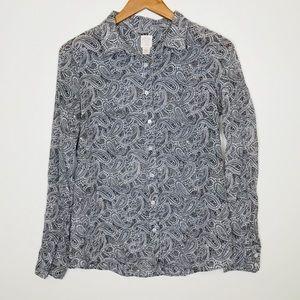 J. Crew Silk Paisley Shirt